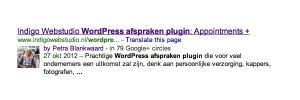 Foto bij je artikel in Google