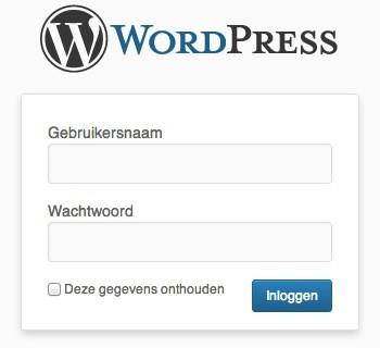 Standaard login WordPress