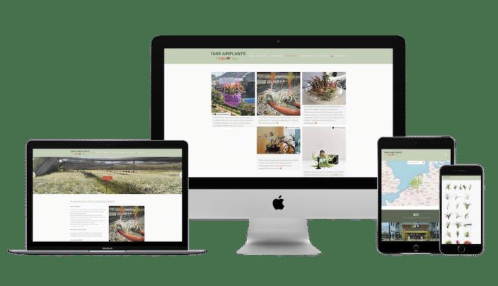 Take Airplants WordPress website