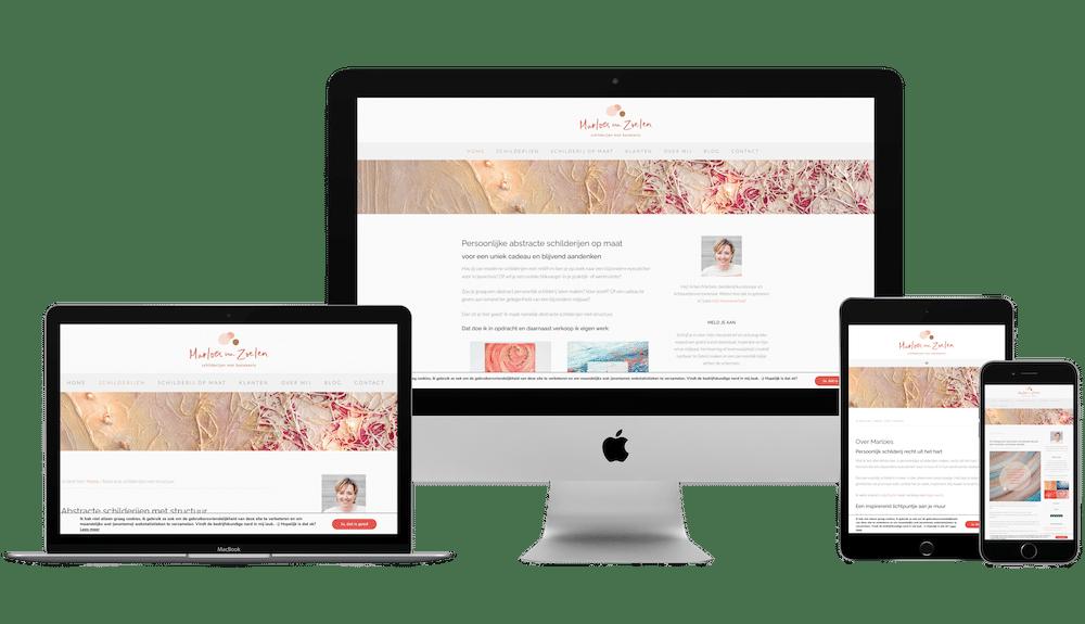 marloes van zoelen WordPress website
