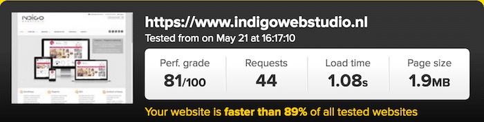 pingdom tools speed test