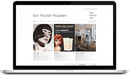 kapsalon wordpress custom theme