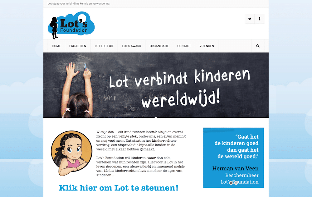 Lot's Foundation oude website