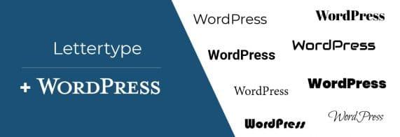 ander lettertype in wordpress