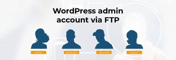 wordpress admin account via ftp